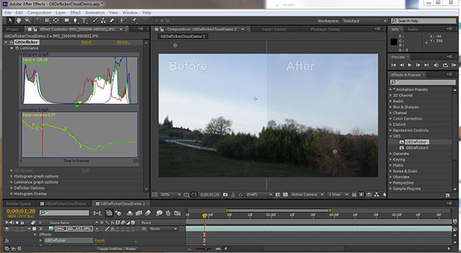 Granite Bay Software GBDeflicker for time-lapse flicker removal
